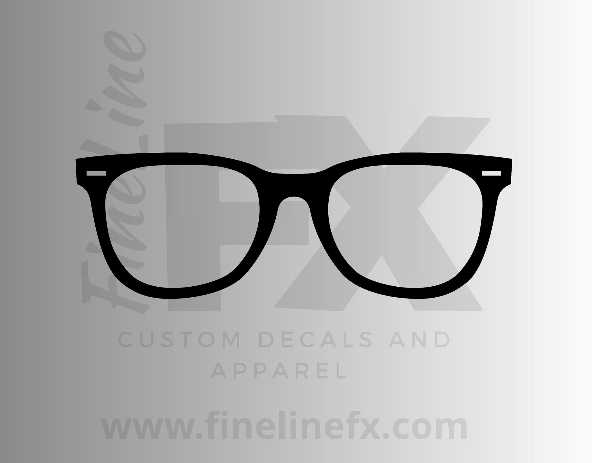 Glasses Eyeglasses Vinyl Decal Sticker