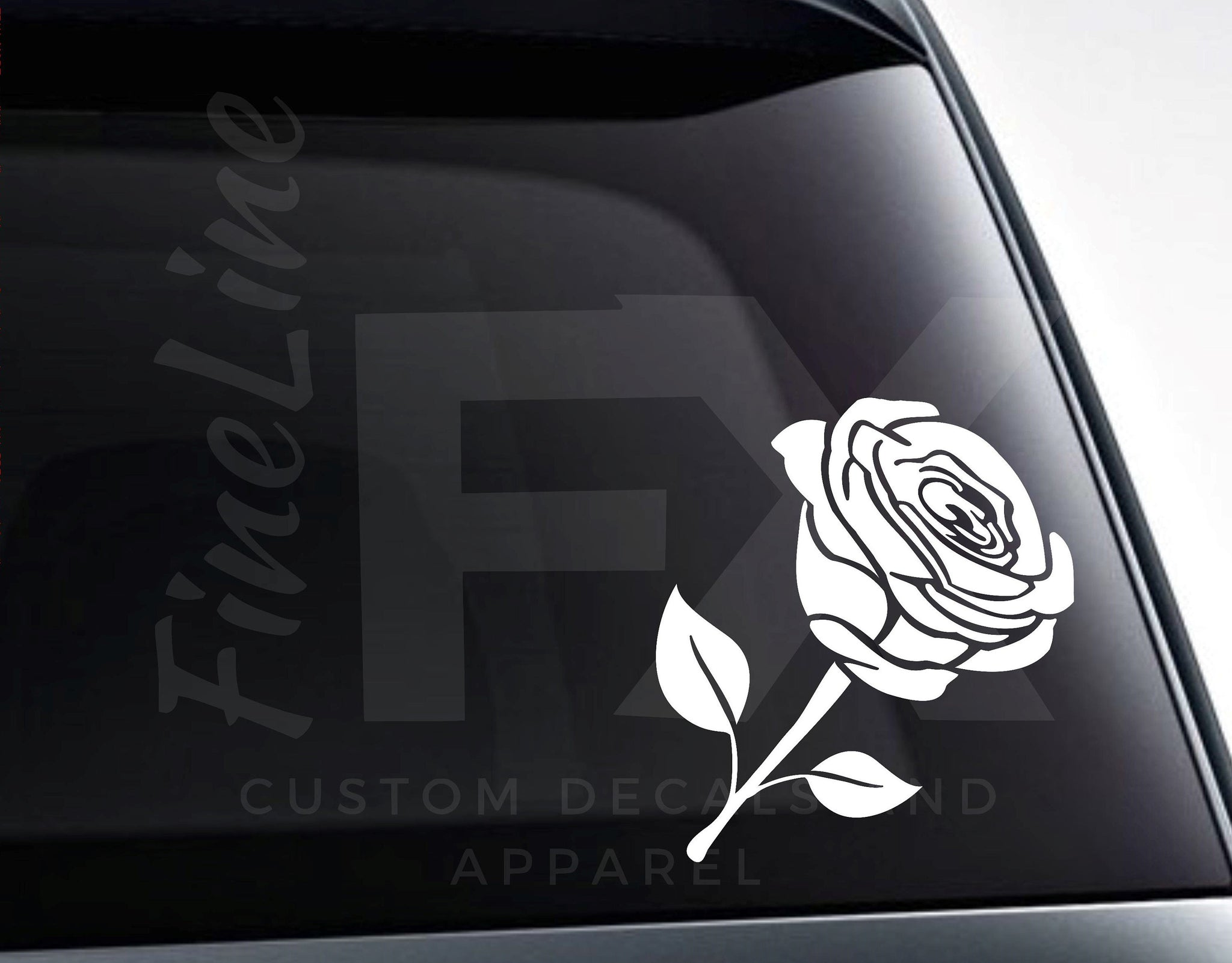 Rose, Flower Rose Petals Die Cut Vinyl Decal Sticker