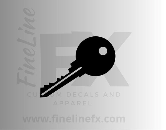 Key, House Key Vinyl Decal Sticker - FineLineFX
