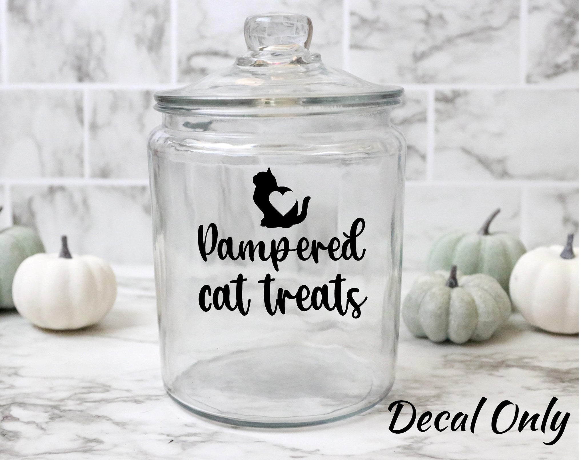 Pampered Cat Treats Vinyl Decal Sticker