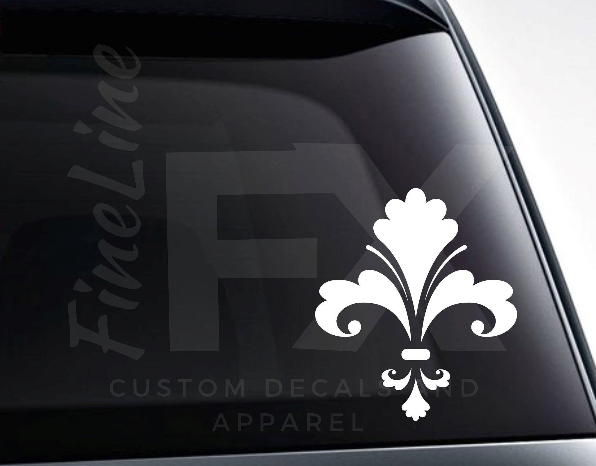 Fleur De Lis Louisana Mardi Gras Vinyl Decal Sticker /