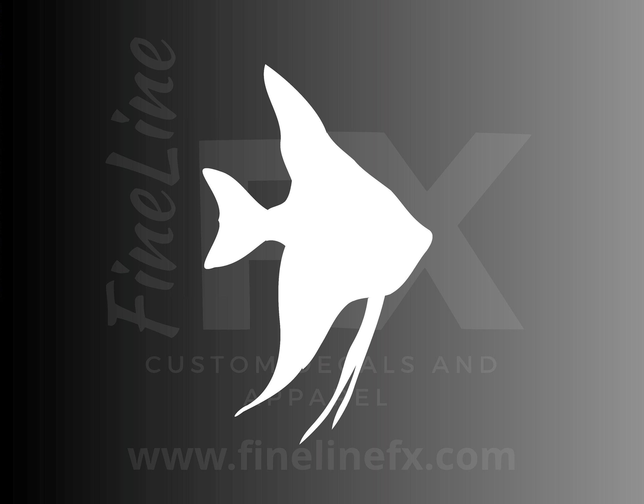 Angel Fish Aquarium Tropical Fish Silhouette Vinyl Decal Sticker