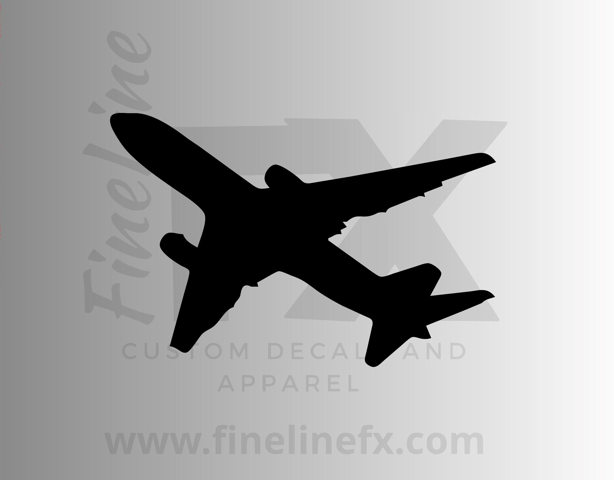 Airplane, Commercial Aircraft, Pilot, Airport Vinyl Decal Sticker