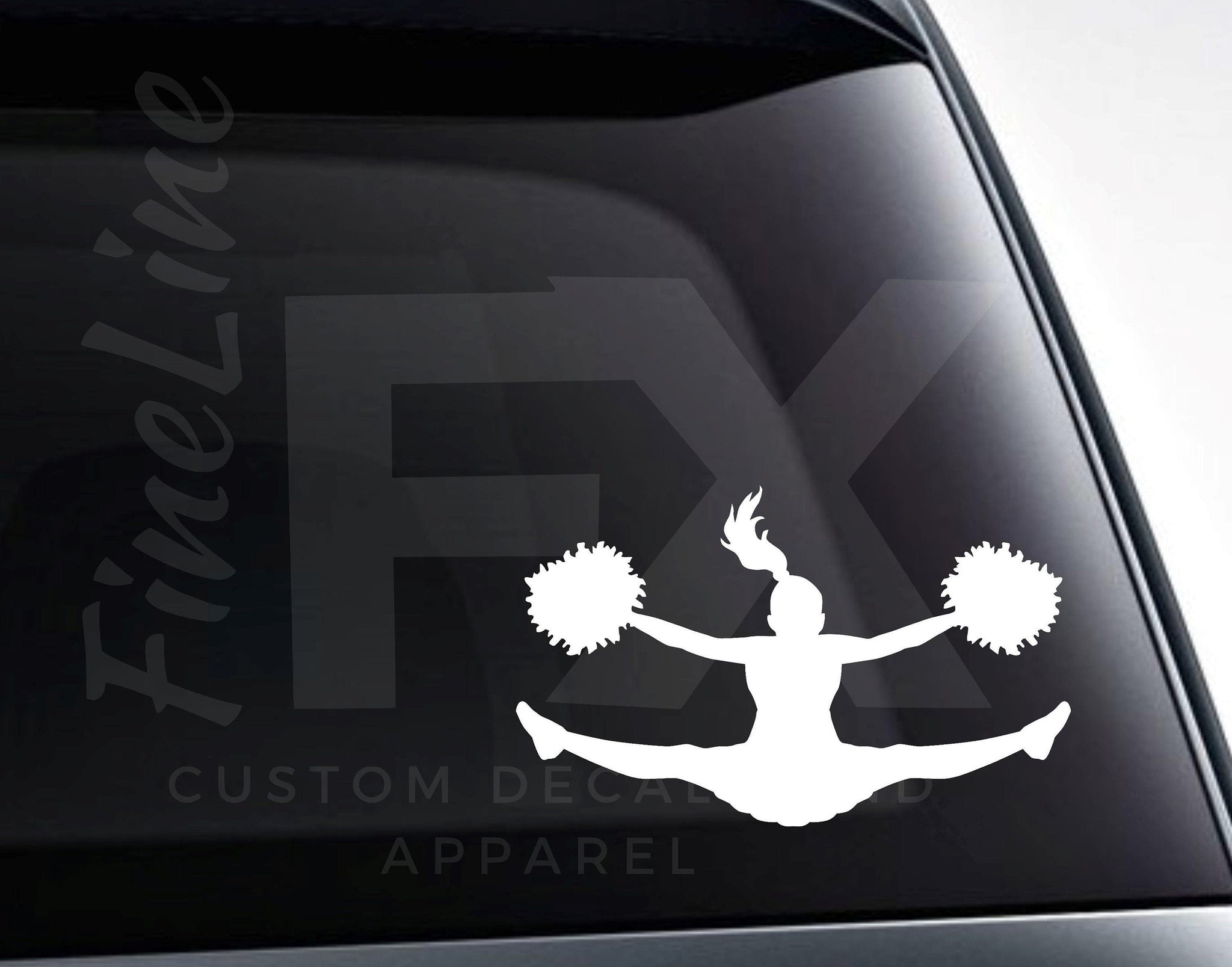 Cheerleader Split, Cheerleading Jump Vinyl Decal Sticker