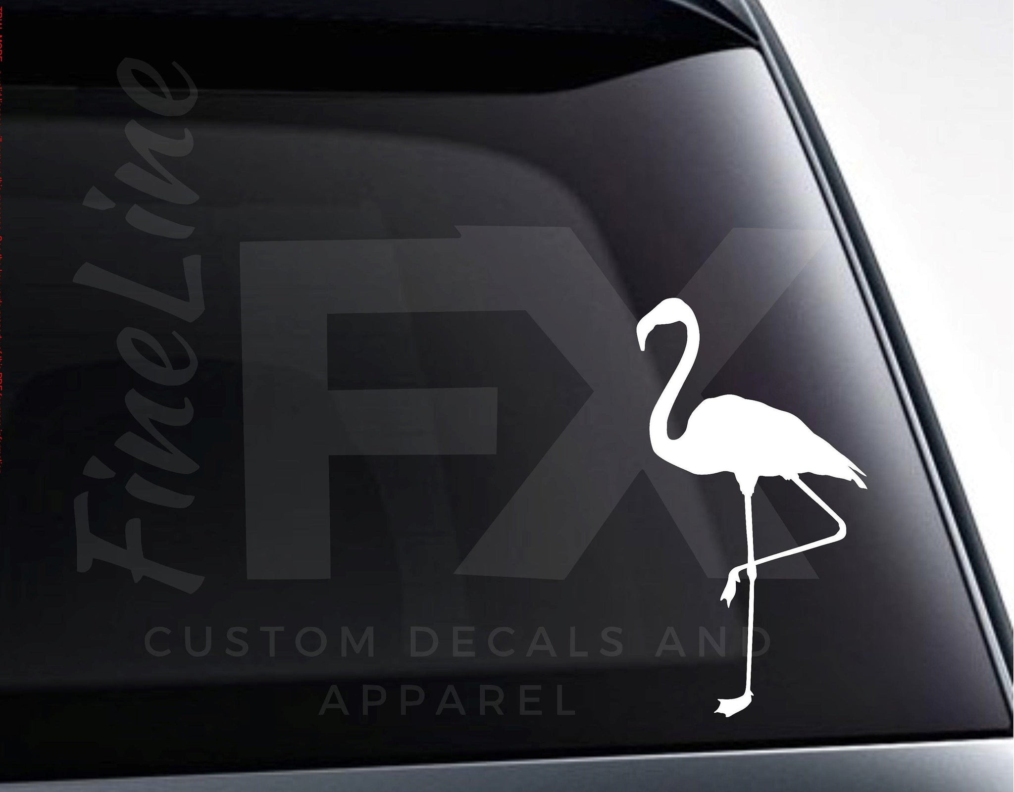 Flamingo Tropical Bird Vinyl Decal Sticker