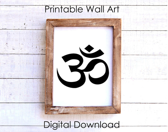 OM Yoga Symbol Printable 8 x 10 Wall Art Instant Download - FineLineFX