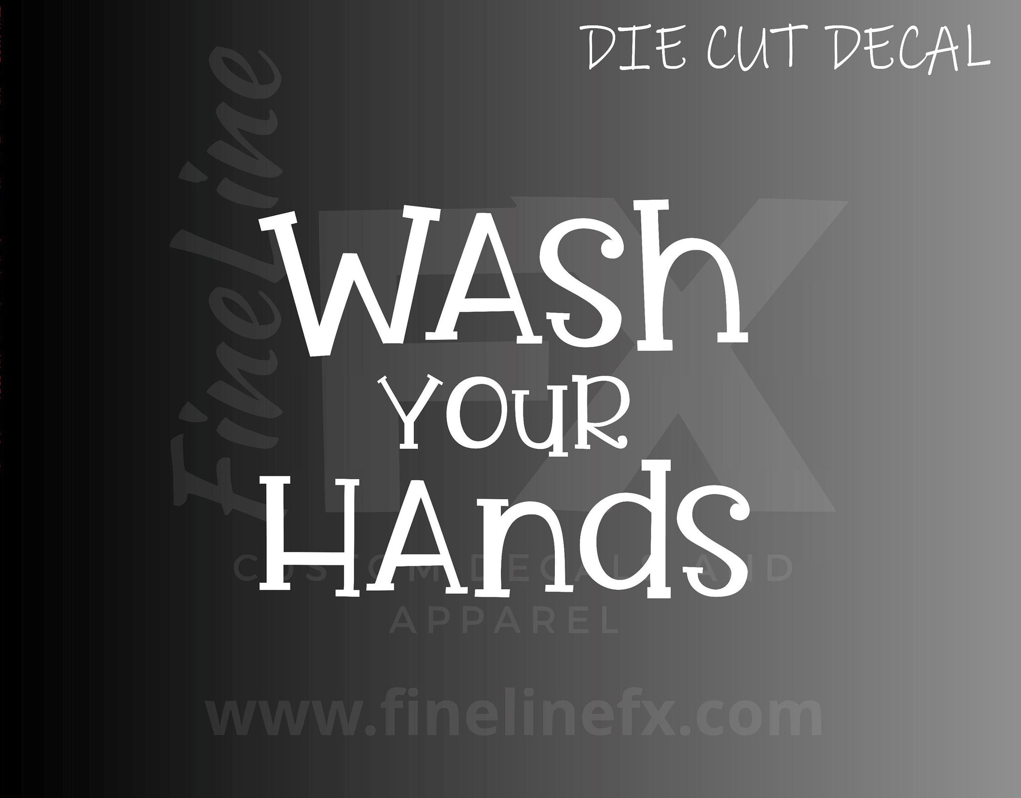 Wash Your Hands Bathroom Restroom Sign Vinyl Decal Sticker