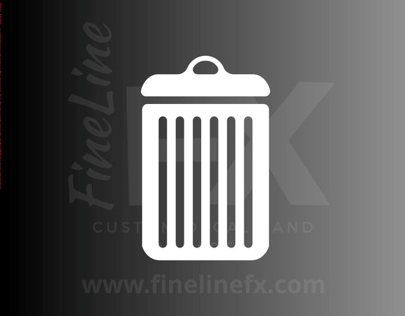 Trash Garbage Waste Container Vinyl Decal Sticker - FineLineFX