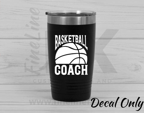 Basketball Coach Vinyl Decal Sticker