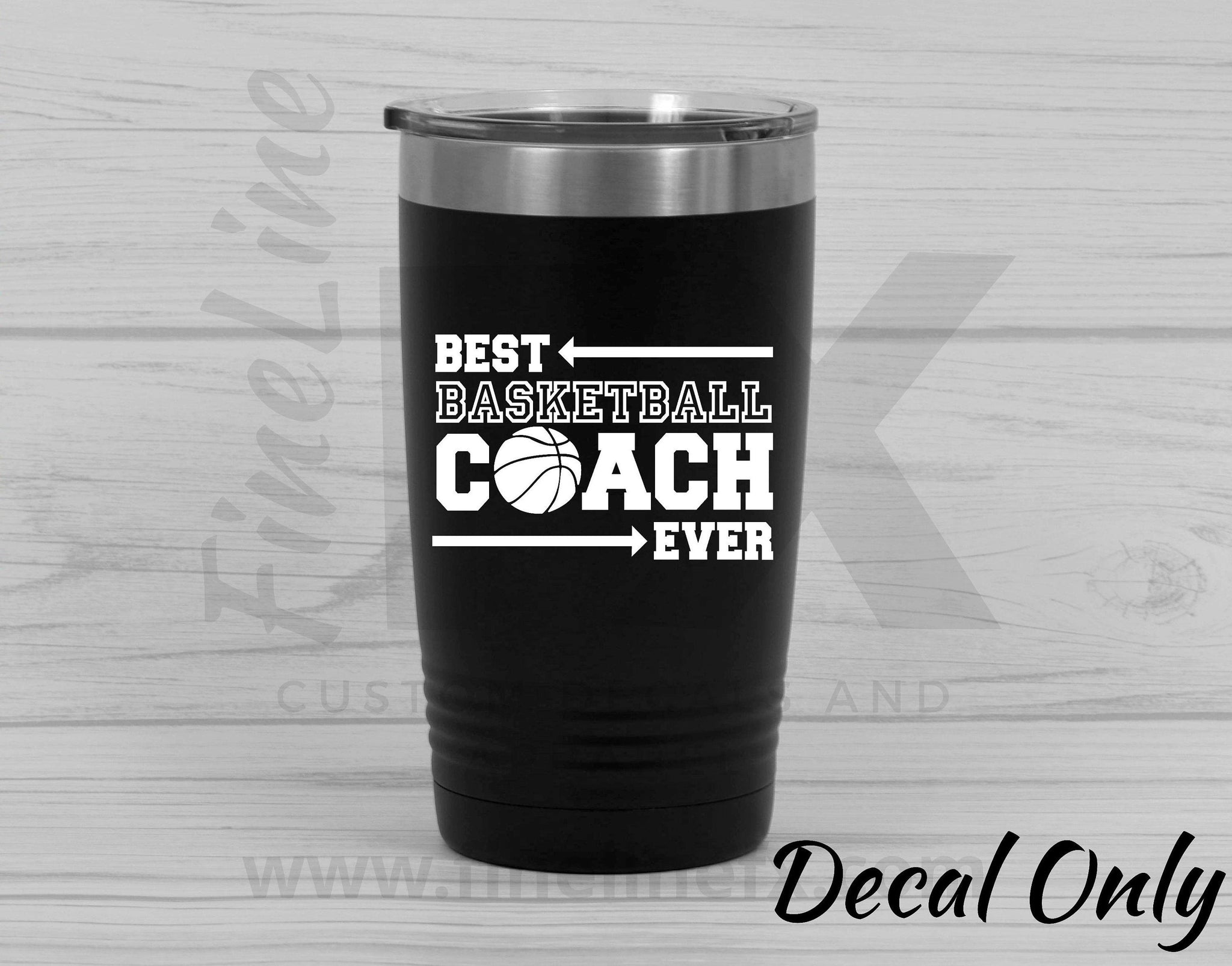 Best Basketball Coach Ever Vinyl Decal Sticker