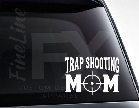 Trap Shooting Mom Vinyl Decal Sticker