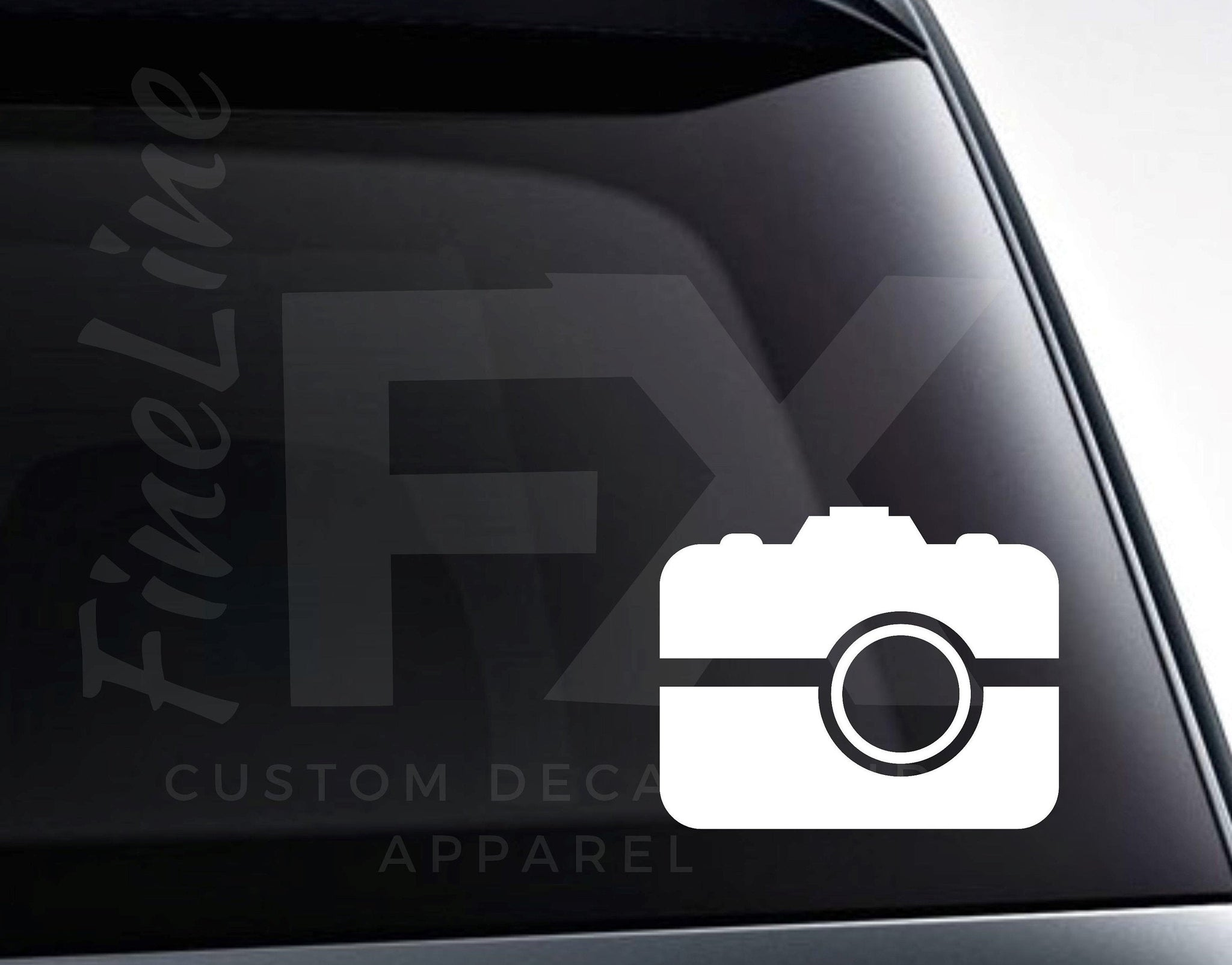 Camera Photographer Icon Vinyl Decal Sticker