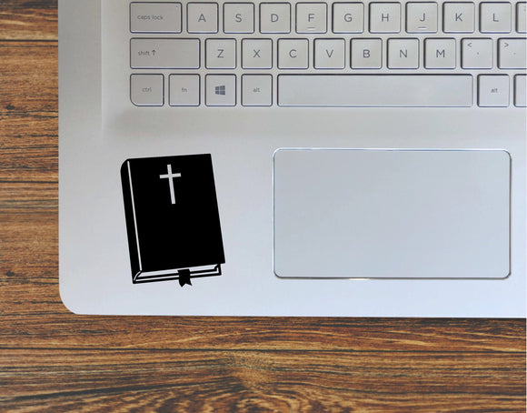 Bible With Christian Cross Vinyl Decal Sticker - FineLineFX
