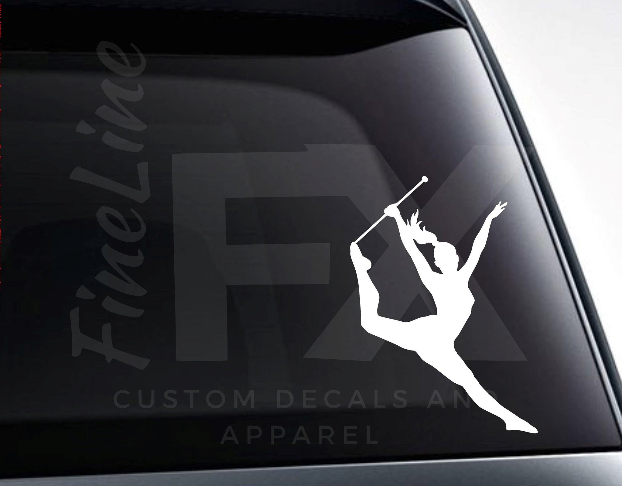 Majorette Baton Twirling Vinyl Decal Sticker