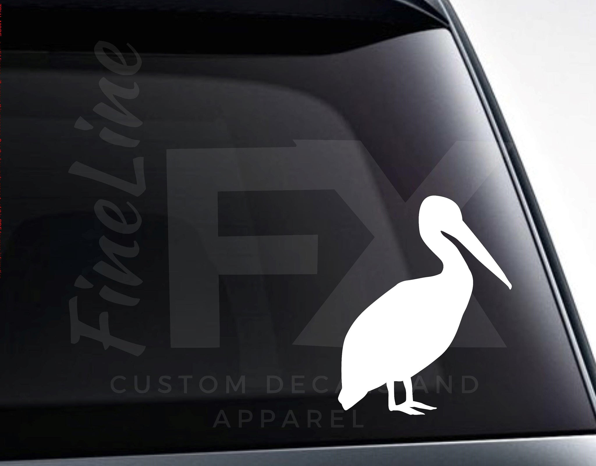Pelican Vinyl Decal Sticker