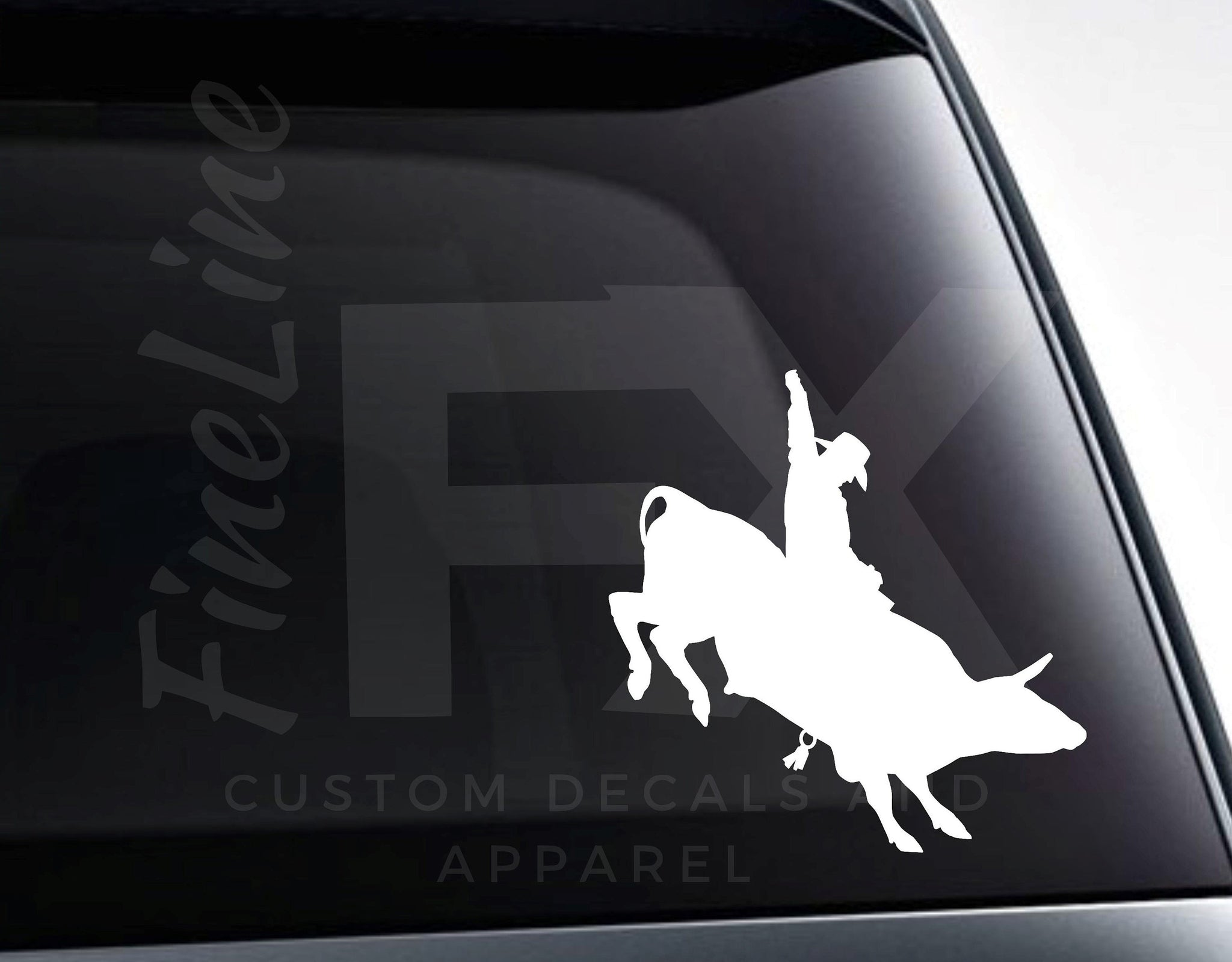 Bull Riding Rodeo Cowboy Vinyl Decal Sticker