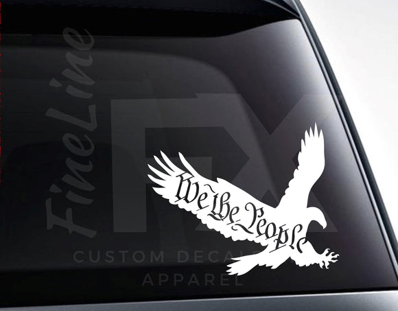 We The People Eagle Vinyl Decal Sticker