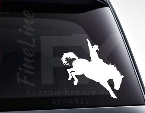 Bronco Riding Rodeo Cowboy Vinyl Decal Sticker