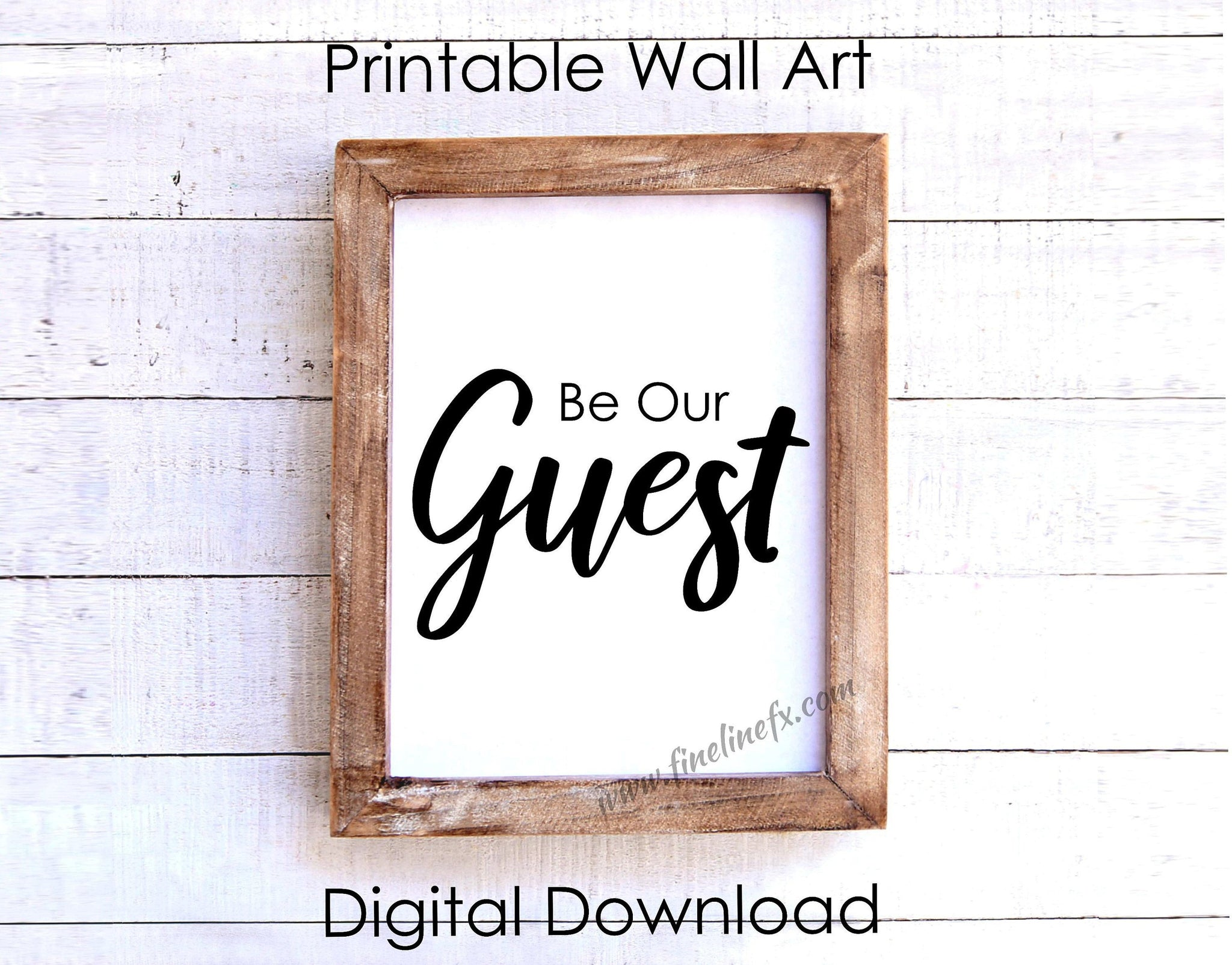 Be Our Guest Printable Wall Hanging, Front Counter 8 x 10 Print Instant Digital Download