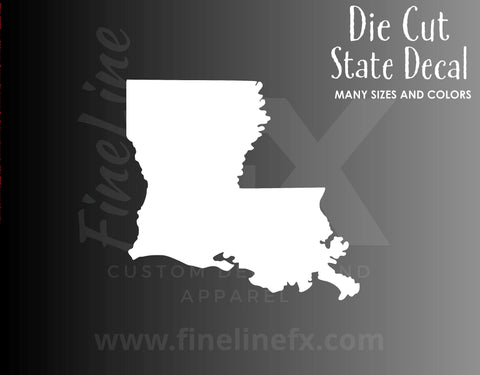 Louisiana State Shape Vinyl Decal Sticker