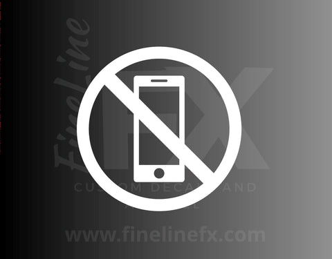 NO Cell Phones Allowed Cell Phones Restricted Sign Vinyl Decal Sticker