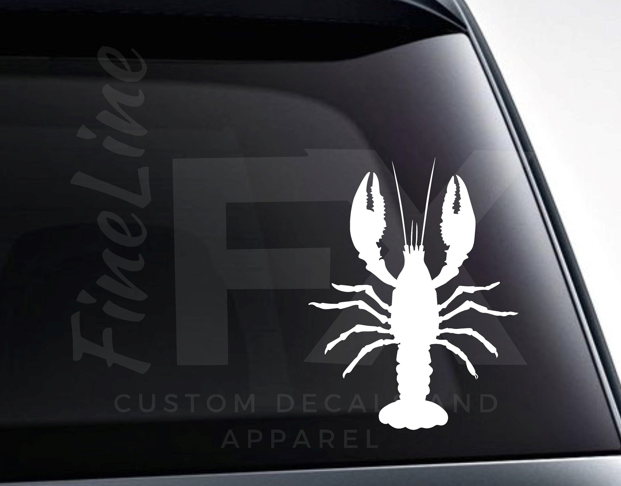 Lobster Silhouette Seafood Crab Claws Vinyl Decal Sticker