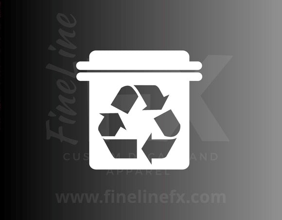 Recycle Bin Recycling Symbol Vinyl Decal Sticker