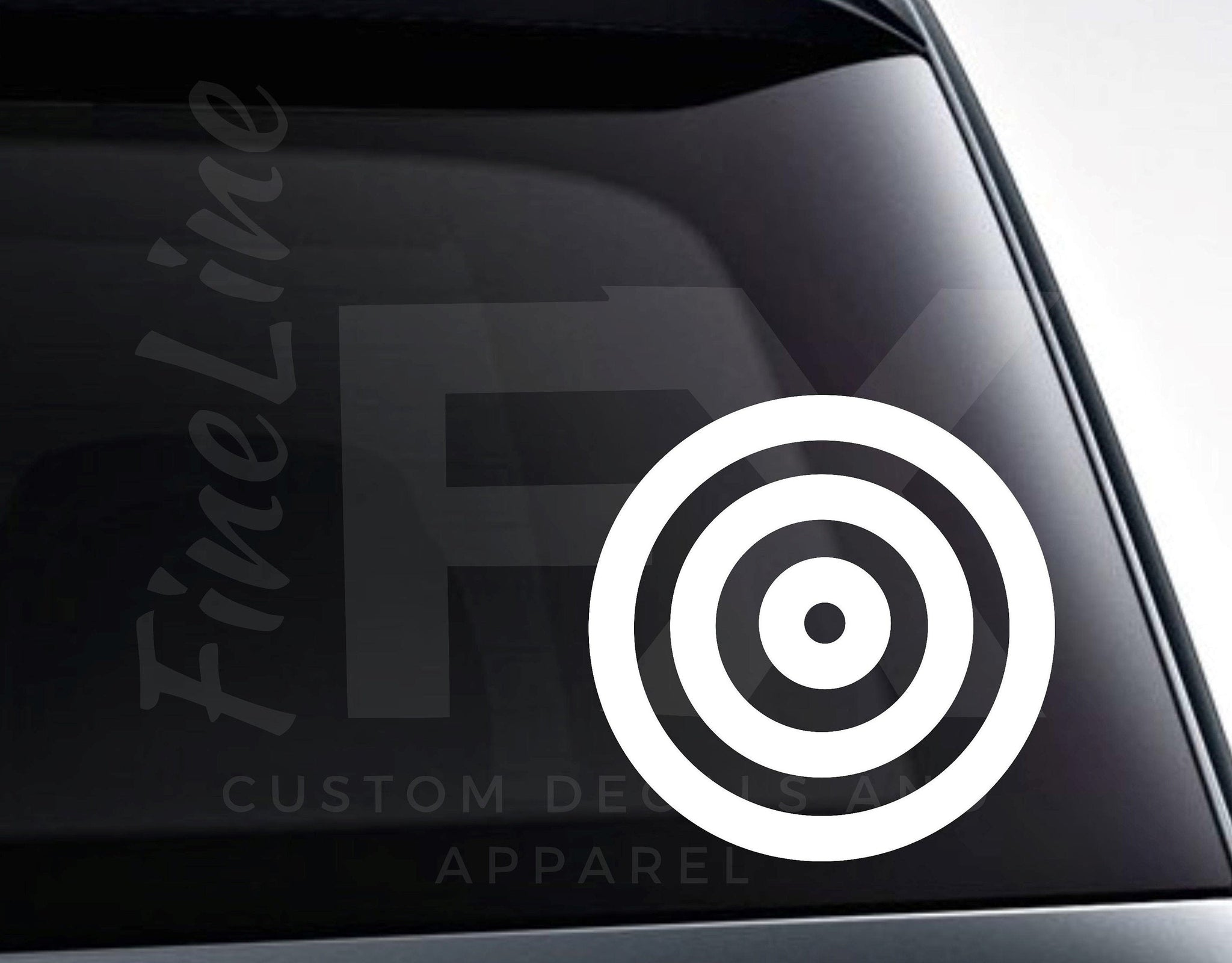 Bullseye Target Shooting Vinyl Decal Sticker