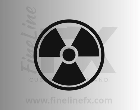 Radiation Radioactive Warning Symbol Vinyl Decal Sticker