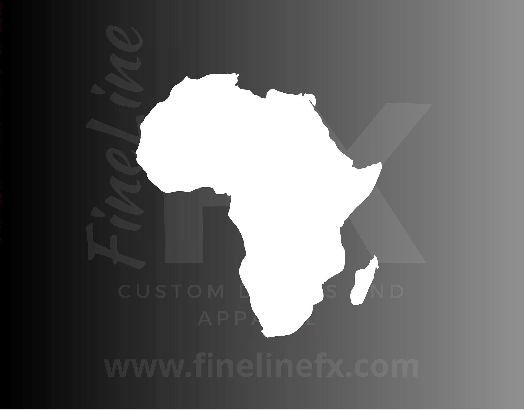 Africa Country Map Vinyl Decal Sticker