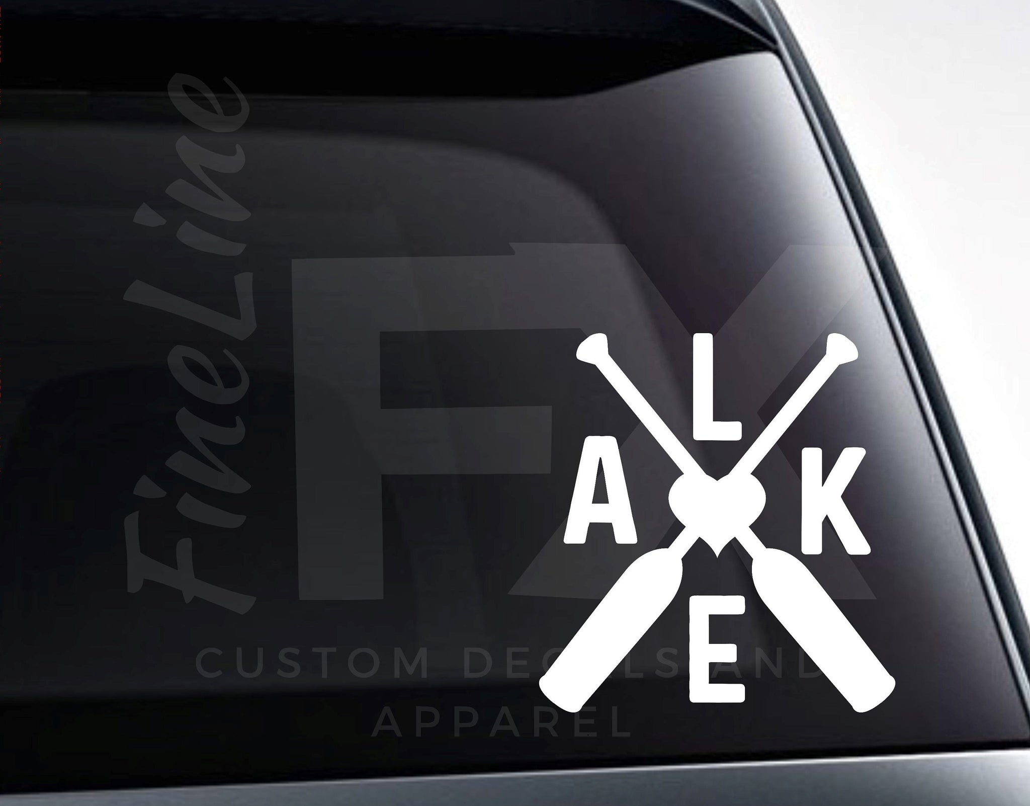 Lake Canoe Paddles Vinyl Decal Sticker