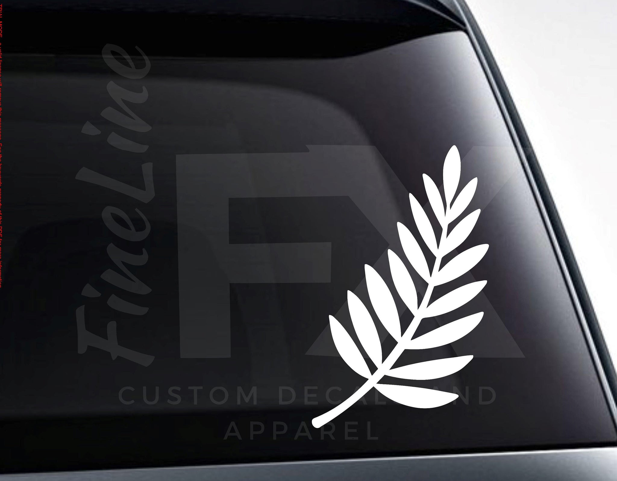 Fern Leaf Vinyl Decal Sticker