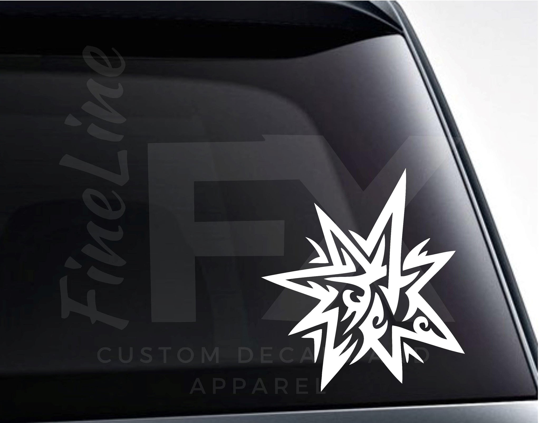 Star Design Die Cut Vinyl Decal Sticker