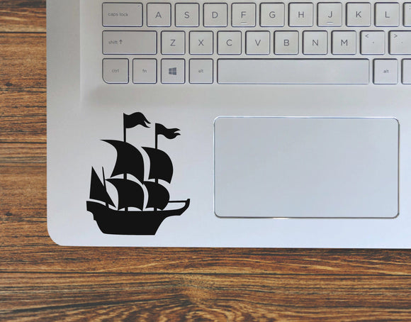 Pirate Ship With Sails Vinyl Decal Sticker