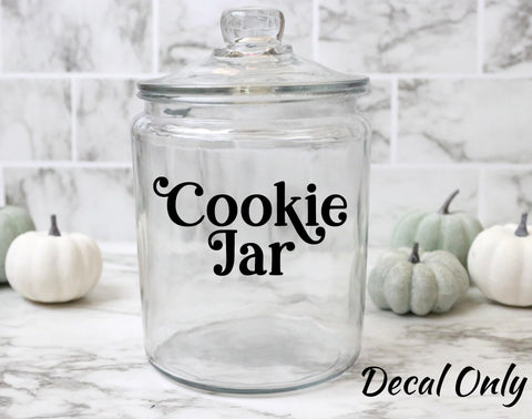 Cookie Jar Label Vinyl Decal Sticker