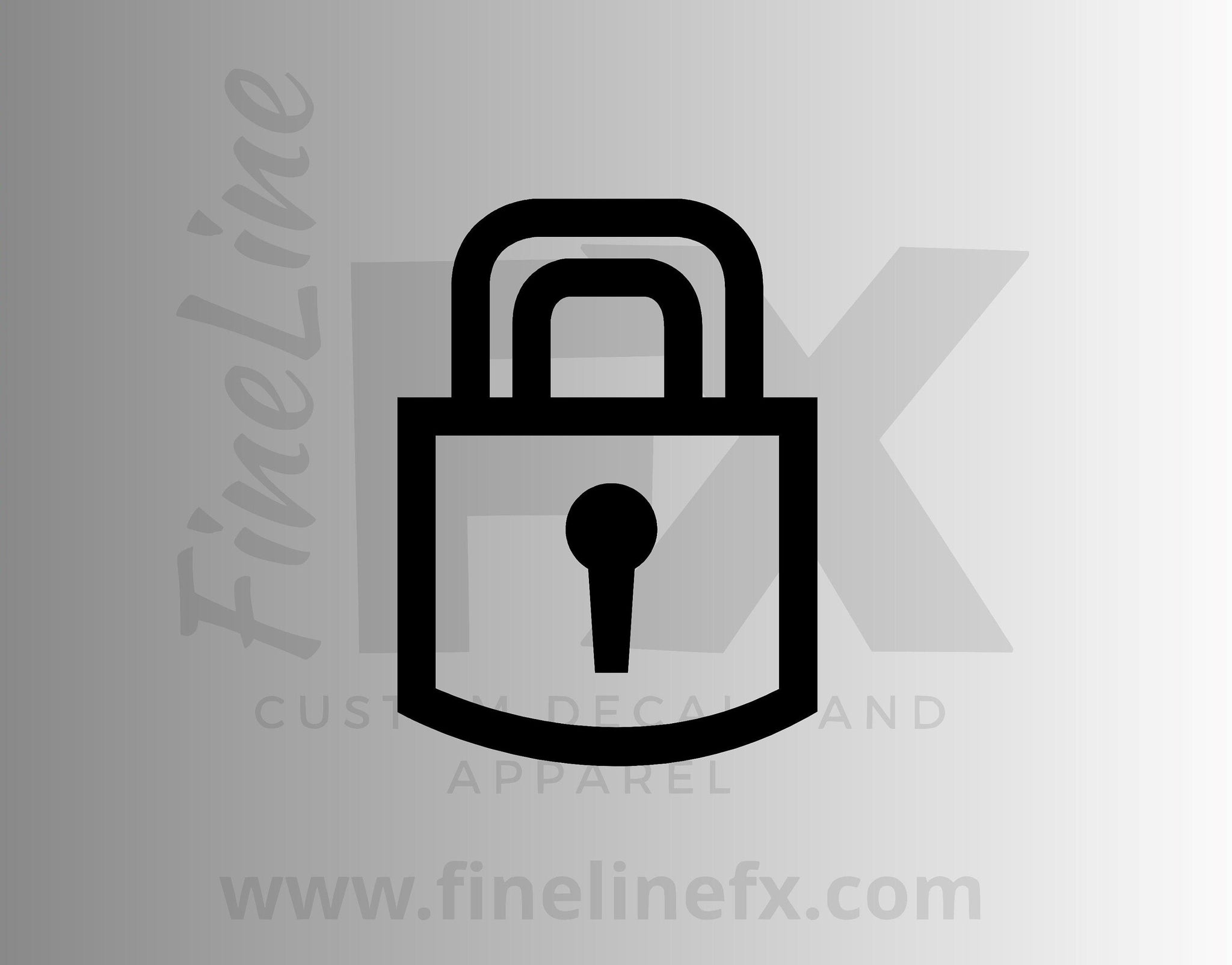 Lock Padlock Clip Art Locked Icon Vinyl Decal Sticker