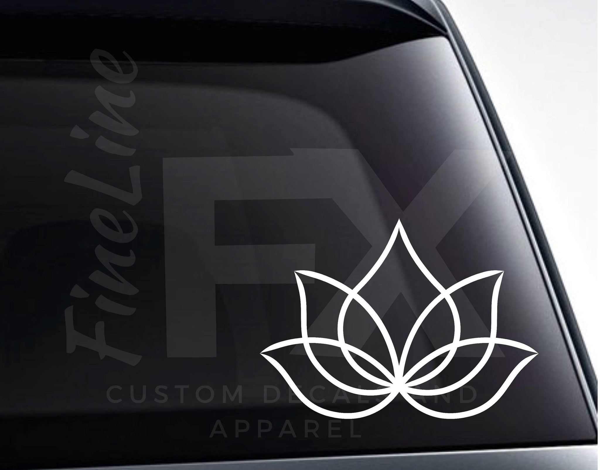 Lotus Flower Design Vinyl Decal Sticker