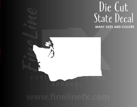 Washington State Shape Vinyl Decal Sticker