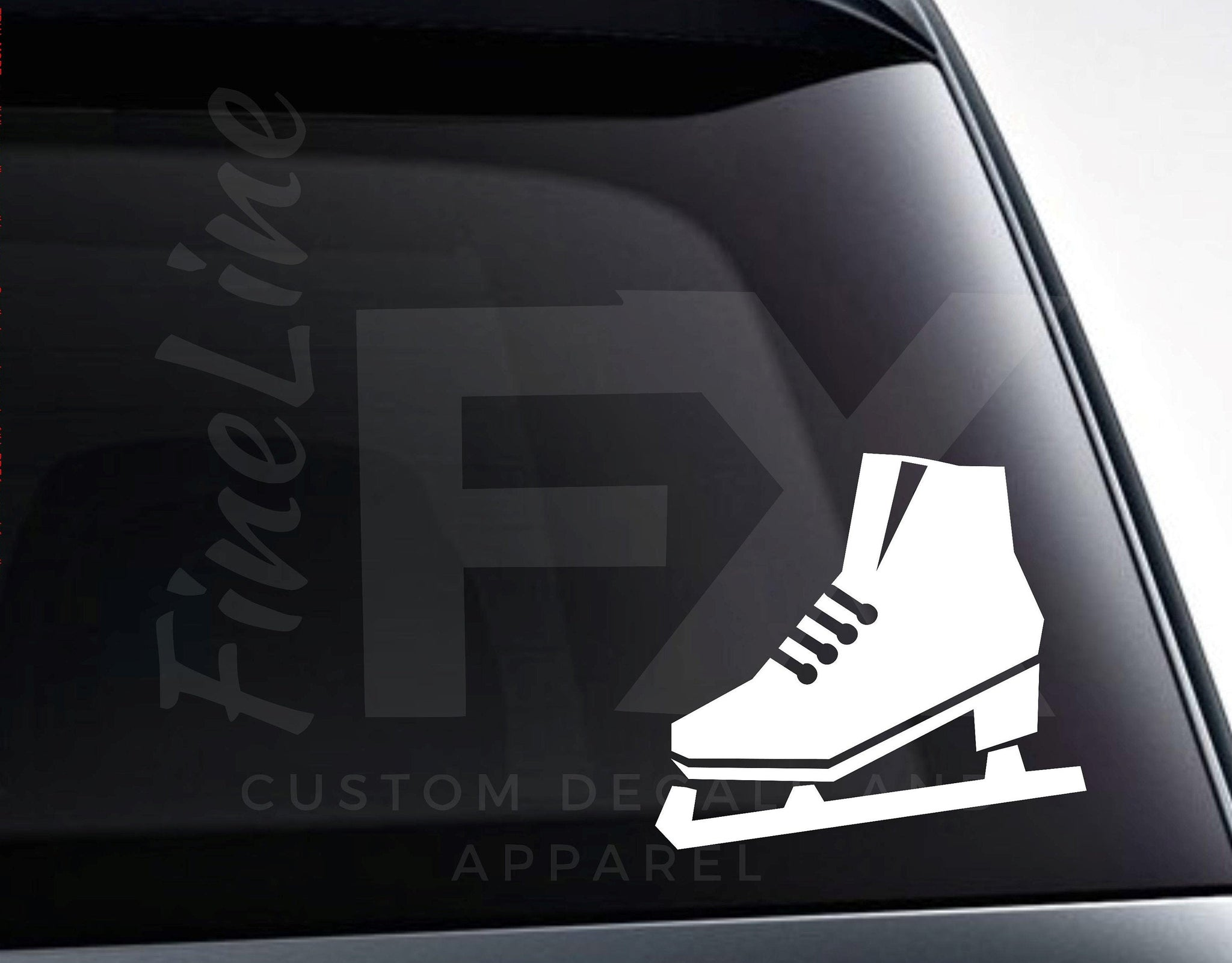 Ice Skate Decal, Ice Skating Vinyl Decal Sticker | Decal For Cars, Laptops, Tumblers And More