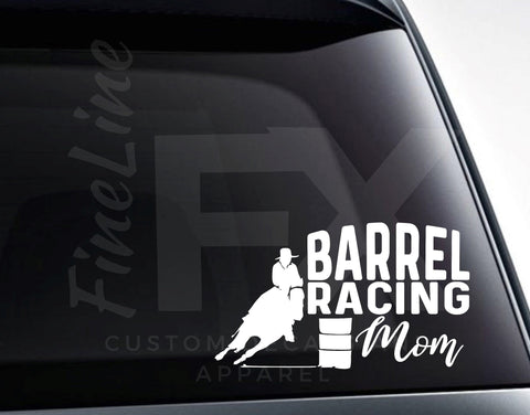 Barrel Racing Mom Rodeo Horse Vinyl Decal Sticker
