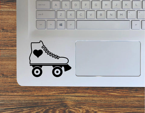 Roller Skate With Heart Vinyl Decal Sticker