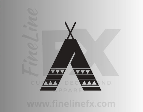 Tribal Teepee Tent Vinyl Decal Sticker