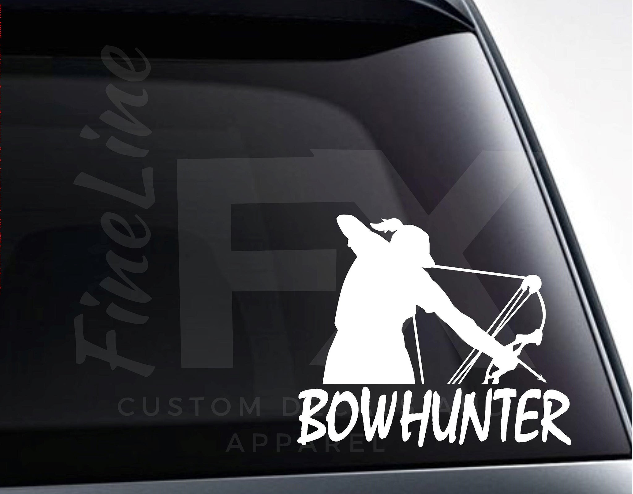 Girl Bowhunter Archery Hunting Compound Bow Vinyl Decal Sticker