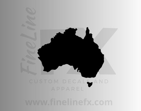 Australia Silhouette, Australia Map Shape Vinyl Decal Sticker