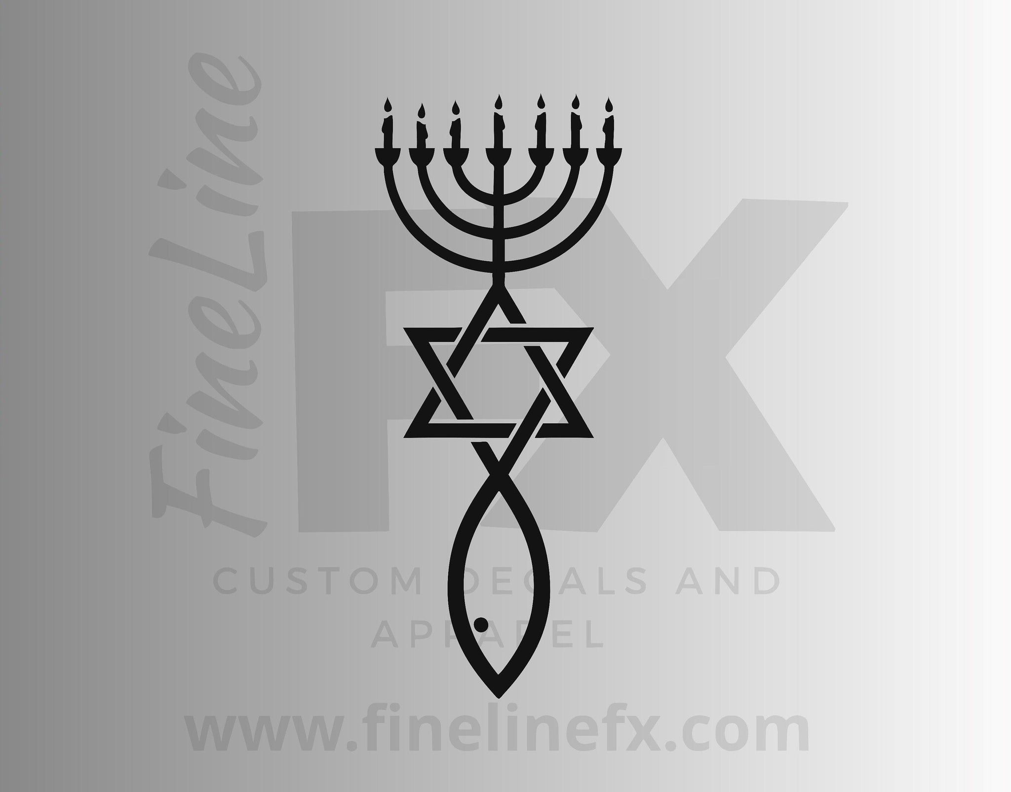 Messianic Judaism Christian Jewish Seal Vinyl Decal Sticker