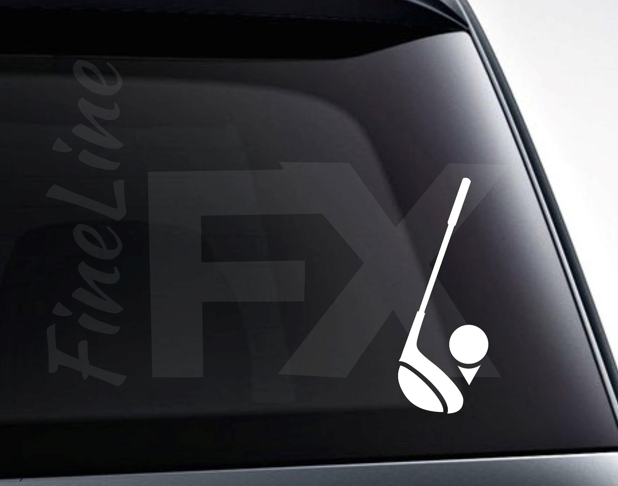 Golf Club And Golf Ball Vinyl Decal Sticker