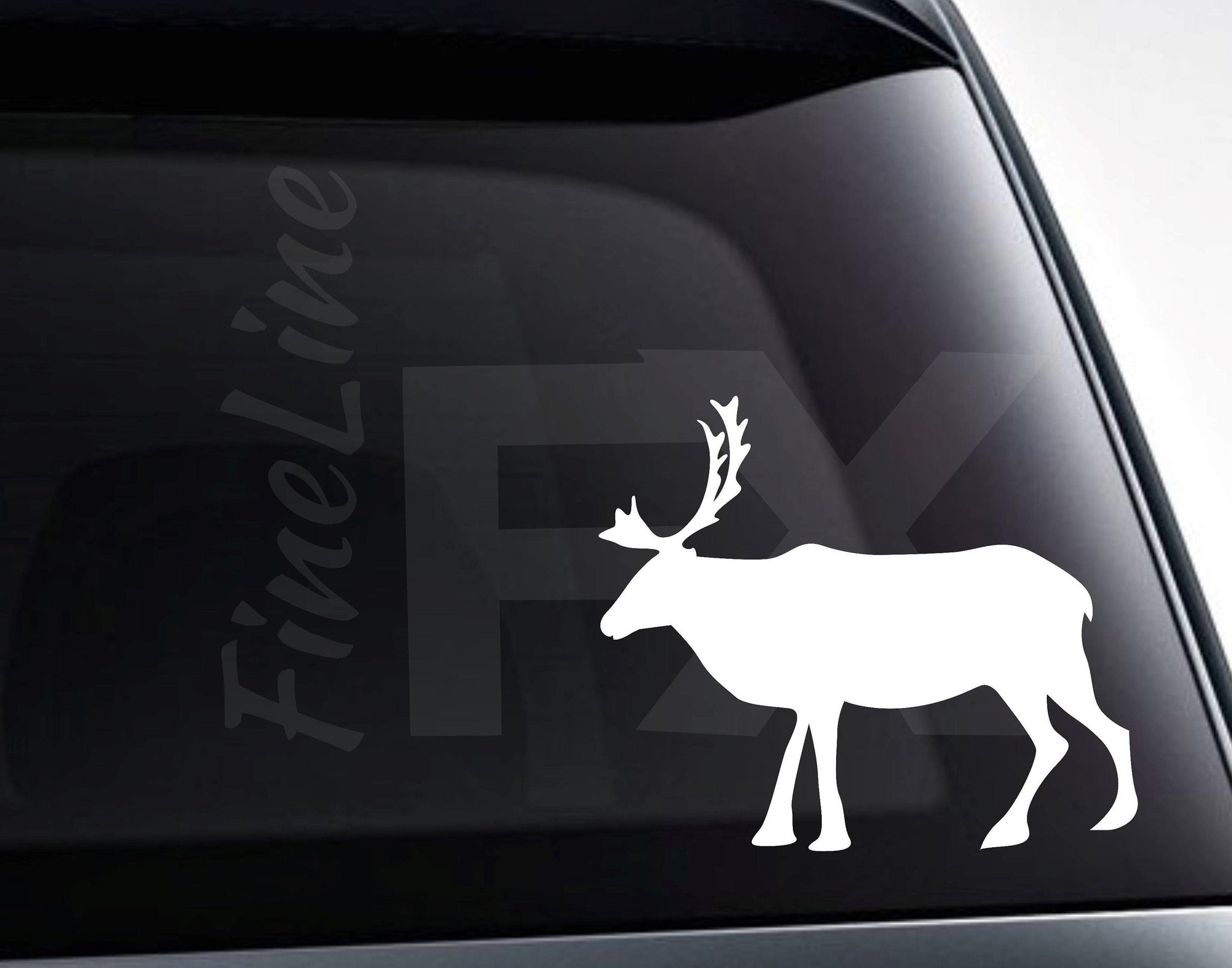 Elk Moose Animal Silhouette Vinyl Decal Sticker