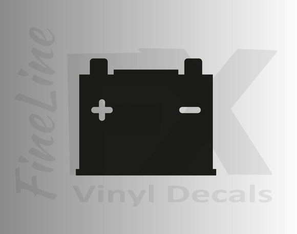 Car Battery Icon Vinyl Decal Sticker