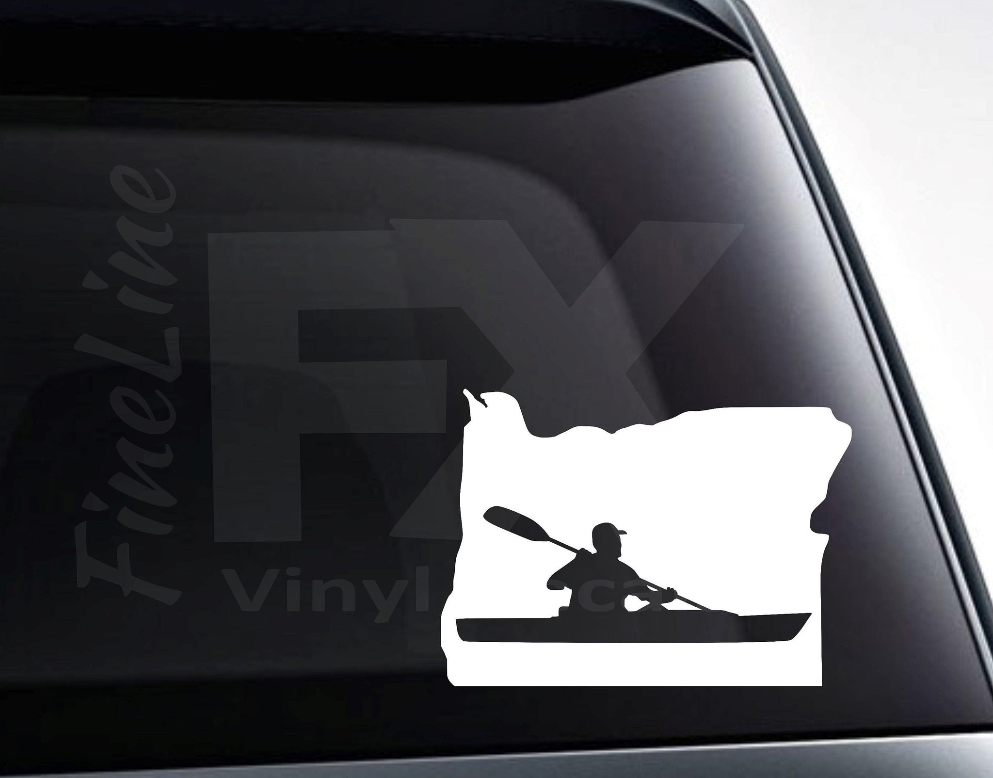Oregon Kayaking Vinyl Decal Sticker