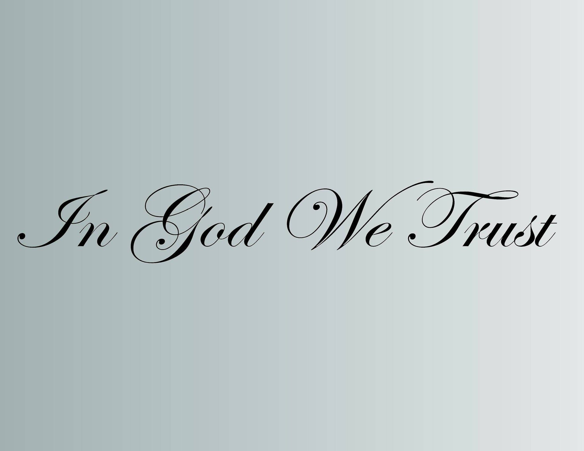 In God We Trust Wall Decal